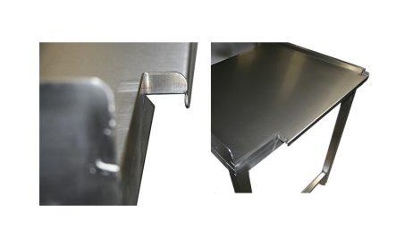 Stålbord med vask PSR1, 700mm dyb i mange længder
