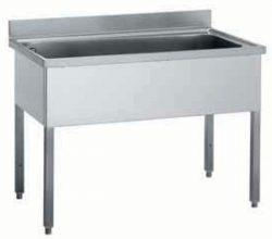 Stålbord med XL-vaskekar - flere mål