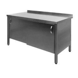 Stålbord med skydelåger, 600 mm dyb og i mange længder